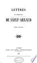 Lettres du maréchal de Saint-Arnaud
