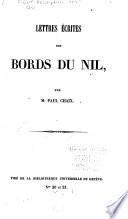 Lettres écrites des bords du Nil