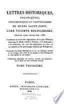 Lettres historiques, politiques, philosophiques et particulières