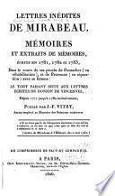 Lettres inédites de Mirabeau