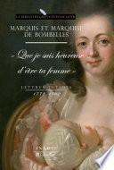 Lettres intimes (1778-1782)