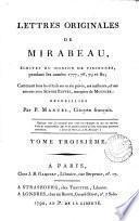Lettres originales de Mirabeau,