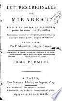 Lettres originales de Mirabeau