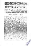 Lettres patentes. Pour l'enregistrement du traité de commerce & navigation, passé entre le Roy & les Etats Généraux des Provnces-Unies, le 21. décembre 1739