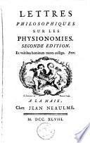 Lettres philosophiques sur les physionomies