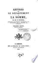 Lettres sur le département de la Somme