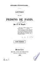 Lettres sur les prisons de Paris