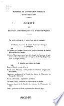 Liste des Membres Titulaires Honoraires et Non Résidants du Comité des Correspondants Honoraires et des Correspondants du Ministère de l'Instruction Publique des Sociétés Savantes de Paris et des Départements