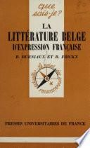 Littérature belge d'expression française