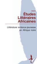Littérature enfance-jeunesse en Afrique noire