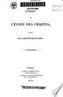 Livret du L'Ecole des Chartes