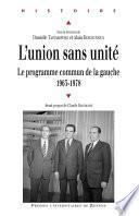 L'union sans unité