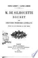 M. De Silhouette Bouret les derniers fermiers généraux Pierre Clément, Alfred Lemoine