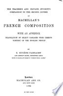 Macmillan's course of French composition. 2nd course. [With] Teacher's and private student's companion