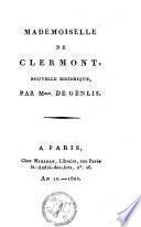 Mademoiselle de Clermont, nouvelle historique,.