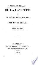 Mademoiselle de La Fayette