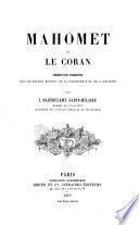 Mahomet et le Coran, précédé d'une intr. sur les devoirs mutuels de la philosophie et de la réligion