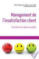 Management de l'insatisfaction client