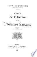 Manuel de l'histoire de la littérature française