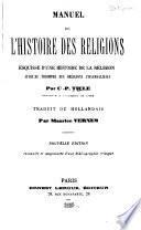Manuel de l'histoire des religions
