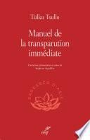 Manuel de la transparution immédiate