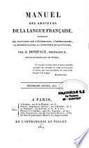 Manuel des amateurs de la langue française