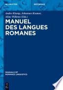 Manuel des langues romanes