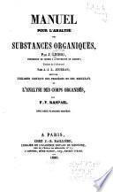 Manuel pour l'analyse des substances organiques