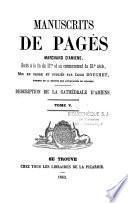 Manuscrits de Pagès,...