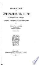 Martyrs et confesseurs de la foi du Diocèse de Limoges, pendant le révolution française