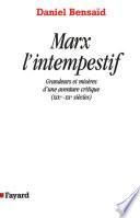 Marx l'intempestif