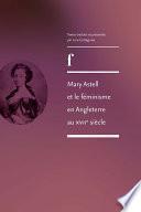Mary Astell et le féminisme en Angleterre au XVIIe siècle