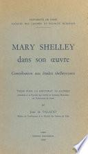 Mary Shelley dans son œuvre