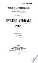 Matière médicale pure