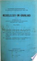 Meddelelser Om Grønland