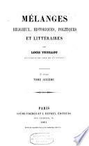 Mélanges religieux, historiques, politiques et littéraires