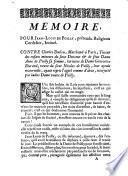 Mémoire pour Jean-Louis de Poilly, prétendu religieux cordelier, intimé, contre Charles Dulieu, marchand à Paris, tuteur des enfants mineurs du sieur Douceur et de feue dame Anne de Poilly, sa femme...