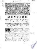 Memoire pour le sieur Jacques Daran, ecuyer ... appelant contre Zacharie Idlinger Despuller ... intimé