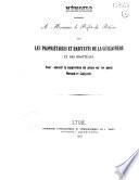 Mémoire présenté à monsieur le préfet du Rhône par les propriétaires et les habitants de la Guillotière et des Brotteaux, pour obtenir la suppression du péage sur les ponts Morand et Lafayette