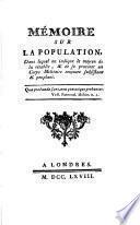 Mémoire sur la population