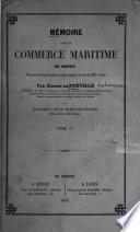Mémoire sur le commerce maritime de Rouen