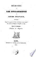 Mémoire sur les Bollandistes et leurs travaux