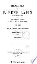 Mémoires ...! 1644-1669, publ. par L. Aubineau. 3 tom
