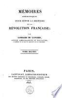 Mémoires anecdotiques pour servir à l'histoire de la Révolution française