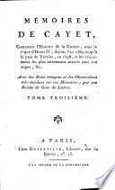 Mémoires contenant l'hist. de la guerre sous le règne d'Henri IV, dep. 1589 jusqu'à la paix de Vervins en 1598