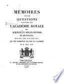 Mémoires couronnés et mémoires des savants étrangers publiés