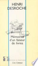 Mémoires d'un faiseur de livres : Entretiens et correspondances avec Thierry Paquot (août 1991)