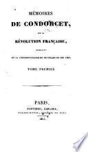 Mémoires de Condorcet sur la révolution française