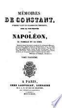 Mémoires de Constant ... sur la vie privée de Napoléon, sa famille et sa cour