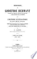 Mémoires de Godefroi Hermant sur l'histoire ecclésiastique du XVIIe siècle (1630-1663)